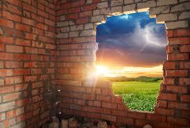 breaking thru brick wall